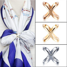 Load image into Gallery viewer, Women Cross Buckle Scarf Clip Ring