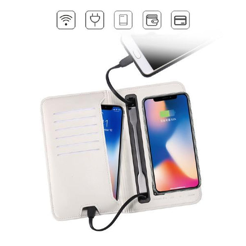 Portable Self-contained Charging Belt with Mobile Power Wallet