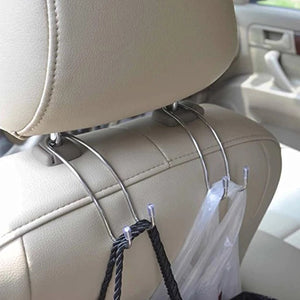 8PCS Metal Car Seat Hook Auto Headrest Universal Metal Headrest Hook