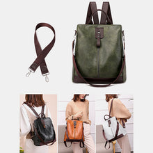 Load image into Gallery viewer, Women Multifunction Waterproof Casual Patchwork Backpack