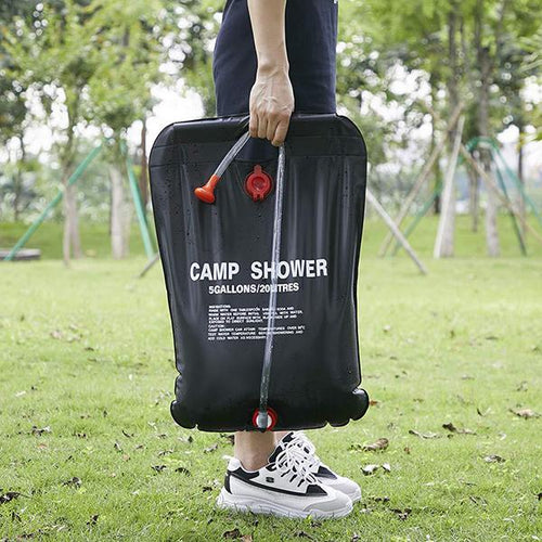 Solar Energy Heated Camp Shower PVC Water Bag