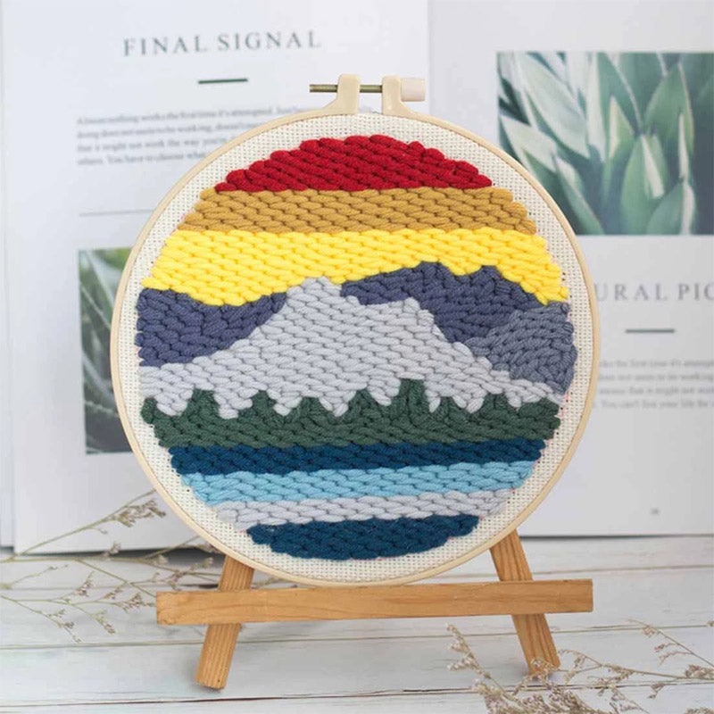 DIY Punch Needle Embroidery Kit-Lakeside