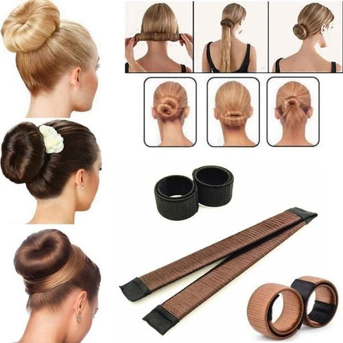 4 Piece Set Magic Hair Styling Tool Twist Curly Hair Braiding Tool