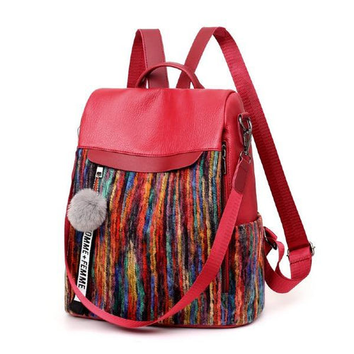 Fashion Stitching Leisure Women 's Backpack
