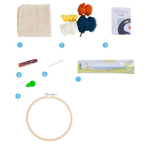 DIY Punch Needle Embroidery Kit-White Moon