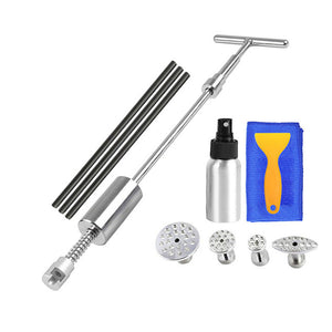 Repair Dent Puller Kit Hammer Glue Sticks Reverse Tabs