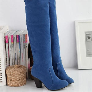 Women's High Heel Knee High Boots