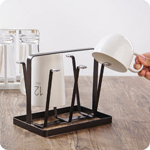 Load image into Gallery viewer, Glass Cup Stand Holder Shelf Creative Storage Rack