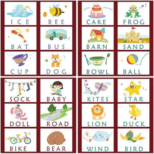 Learning English Cards Spelling Words Kids Games