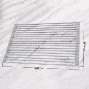 Kitchen Multi-function Silicon Gel Folding Drain Rack
