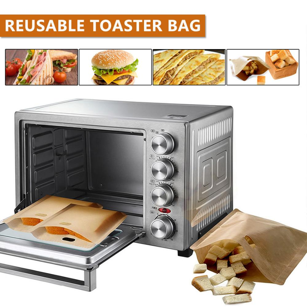 5pcs Reusable Toaster Bag Non Stick Bread Bag Sandwich Bags