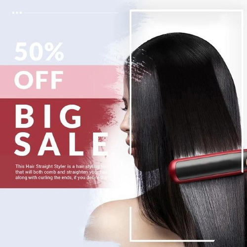 Multifunction Hair Straight & Curly Styler