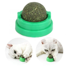 Load image into Gallery viewer, Clean Teeth Safety Mint Cat Toy Rotating Catnip Ball Toy