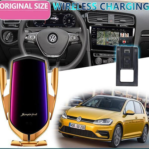 Car Mobile Phone Holder Gravity Sensor Wireless Charging Telephone Bracket