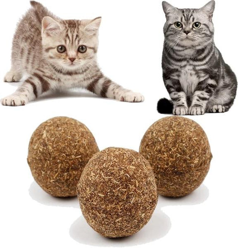 Cat Chew Natural Ball Toy(A Set of 5 Balls)