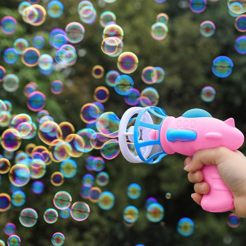 Funny Automatic Electric Outdoor Fan Bubble Machine Toys For Children