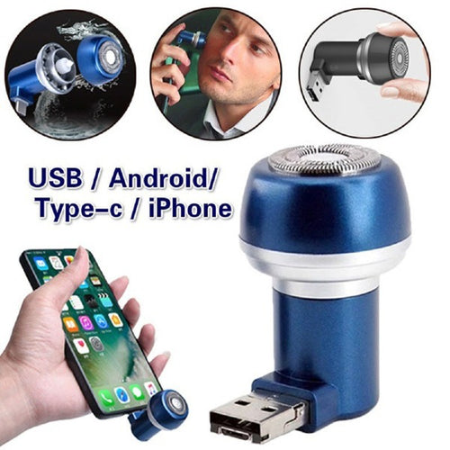 Men's Travel Wireless Washable Mini Magnetic Phone Body Hair Shaver