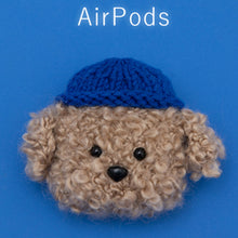 Load image into Gallery viewer, Cute Fluffy Earphone Case for AirPods 2 Cover Teddy Dog Plush