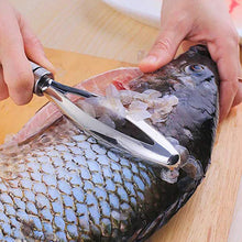 Load image into Gallery viewer, YFancy Fish Scraping Stainless Steel Brush Creative Kitchen Tools