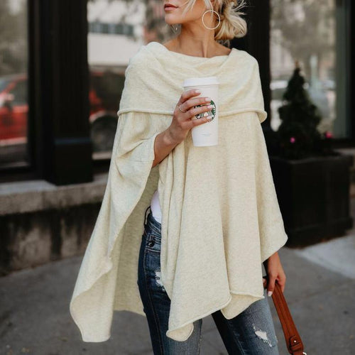 Sexy Off-the-shoulder Long-sleeved Top Irregular Hem Tops