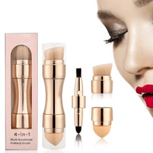 Load image into Gallery viewer, 4 in 1 4 Different Heads Foundation Cosmetic Makeup Brush