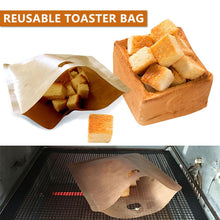 Load image into Gallery viewer, 5pcs Reusable Toaster Bag Non Stick Bread Bag Sandwich Bags
