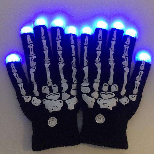 Funny Skeleton Bone Glowing Gloves