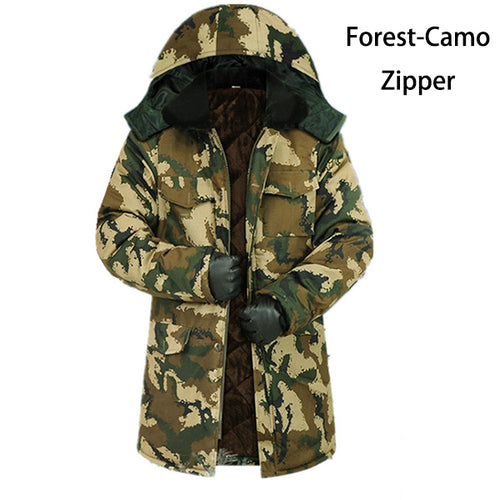 Men Fashion Camouflage Hooded Long Coats