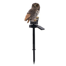 Load image into Gallery viewer, 2PCS Solar Powered LED Warm White Light Stand Owl Outdoor Garden Landscape Path Yard Lamp