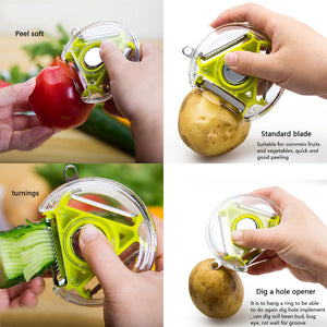Three-In-One Function Kitchen Peeling Tools