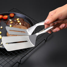 Load image into Gallery viewer, Stainless Steel Food Tongs Cooking Utensils Cookware Clip Clamp BBQ Fried Beef Steak Pizza Baking Tool