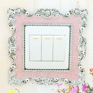 High Quality Home Switch Cover Square Shape Switch Wall Light Socket Stickers