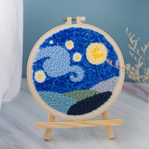 Starry Sky Series DIY Punch Needle Embroidery Kit