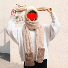 Load image into Gallery viewer, Winter Warm Cute Panda Hat Gloves Scarf Set