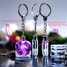 Load image into Gallery viewer, Laser Engraved Crystal Glass Keychain