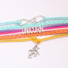 Load image into Gallery viewer, Colorful Unicorn Pendant Letter Bracelet
