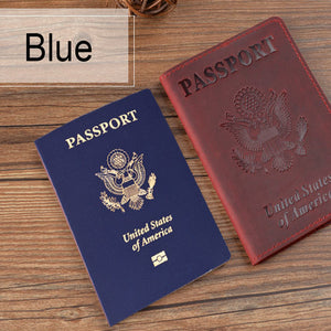 Business Passport Cover Solid Credit Card Holder Unisex Travel Wallet
