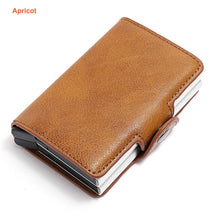 Load image into Gallery viewer, Credit Card Holder Metal RFID Aluminium Box Crazy Horse Leather Card Wallet