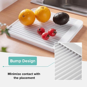 Anti-Slip Diatom Mud Dishware Drainer Rack