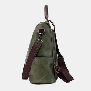 Women Multifunction Waterproof Casual Patchwork Backpack