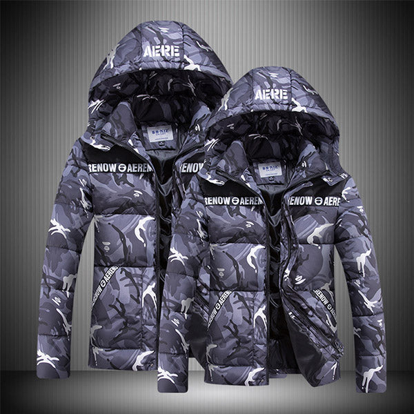 Men Fashion Hooded Camouflage Warm Winter Coats