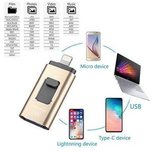 4-in-1 Cross-device USB Flash Drive