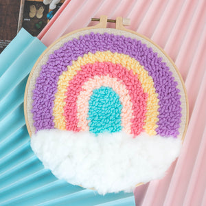 Rainbow Series DIY Punch Needle Embroidery Kit