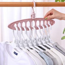 Load image into Gallery viewer, Plastic Scarf Clothes Hangers Multi-port Support Circle Multifunction Storage Racks