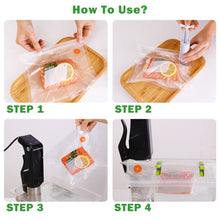 Load image into Gallery viewer, TAILI Reusable Vacuum Saver Bags Food Storage Bag