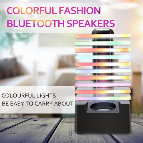 Wireless Bluetooth Speaker 7 Colors LED Colorful Multifunction Floor Speaker