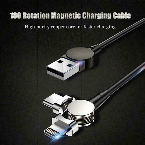 Generation Magnetic Cable 180° Rotating Charging Cable