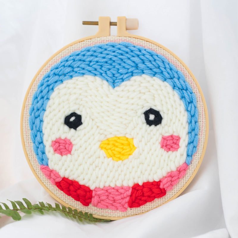 DIY Punch Needle Embroidery Kit-Penguin