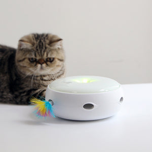 Electric Cat Catching Mouse Donut Automatic Turntable Smart Teasing Toy