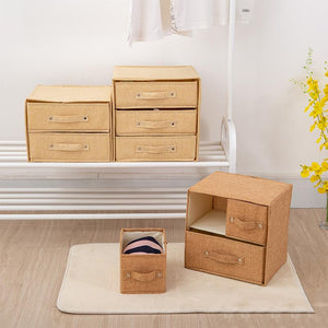 Storage Container Drawer Divider Lidded Closet Box
